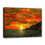 Alyssa s Sunset -Ave Hurley ArtRevu.com- Canvas 16  x 12  (Stretched)