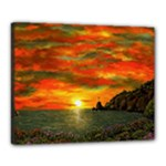 Alyssa s Sunset -Ave Hurley ArtRevu.com- Canvas 20  x 16  (Stretched)