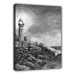 Frank Clark Lighthouse -AveHurley ArtRevu.com- Canvas 16  x 12  (Stretched)