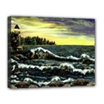 Cosgriff Point Lighthouse -AveHurley ArtRevu.com- Canvas 14  x 11  (Stretched)