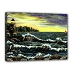 Cosgriff Point Lighthouse -AveHurley ArtRevu.com- Canvas 16  x 12  (Stretched)