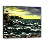 Cosgriff Point Lighthouse -AveHurley ArtRevu.com- Canvas 20  x 16  (Stretched)