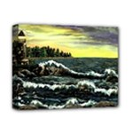 Cosgriff Point Lighthouse -AveHurley ArtRevu.com- Deluxe Canvas 14  x 11  (Stretched)
