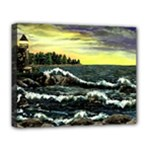 Cosgriff Point Lighthouse -AveHurley ArtRevu.com- Deluxe Canvas 20  x 16  (Stretched)