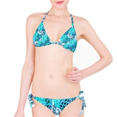 Teal Sea Forest, Abstract Underwater Ocean Bikini by DianeClancy