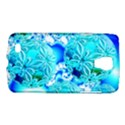 Blue Ice Crystals, Abstract Aqua Azure Cyan Samsung Galaxy S4 Active (I9295) Hardshell Case View1