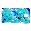 Blue Ice Crystals, Abstract Aqua Azure Cyan Samsung Galaxy Note 3 N9005 Hardshell Case View1