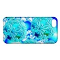 Blue Ice Crystals, Abstract Aqua Azure Cyan Apple iPhone 5C Hardshell Case View1