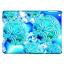Blue Ice Crystals, Abstract Aqua Azure Cyan Apple iPad Air Hardshell Case View1