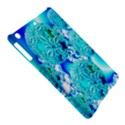 Blue Ice Crystals, Abstract Aqua Azure Cyan Apple iPad Air Hardshell Case View5
