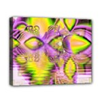 Golden Violet Crystal Heart Of Fire, Abstract Canvas 10  x 8  (Framed)