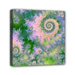 Rose Apple Green Dreams, Abstract Water Garden Mini Canvas 6  x 6  (Framed)
