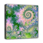 Rose Apple Green Dreams, Abstract Water Garden Mini Canvas 8  x 8  (Framed)