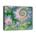 Rose Apple Green Dreams, Abstract Water Garden Canvas 10  x 8  (Framed)