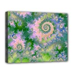 Rose Apple Green Dreams, Abstract Water Garden Canvas 14  x 11  (Framed)