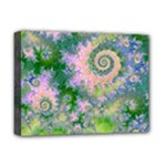 Rose Apple Green Dreams, Abstract Water Garden Deluxe Canvas 16  x 12  (Framed)