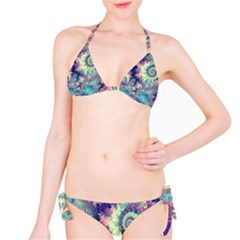 Violet Teal Sea Shells, Abstract Underwater Forest Bikini by DianeClancy