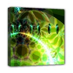 Dawn Of Time, Abstract Lime & Gold Emerge Mini Canvas 8  x 8  (Framed)