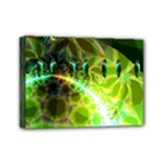 Dawn Of Time, Abstract Lime & Gold Emerge Mini Canvas 7  x 5  (Framed)