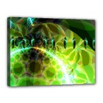Dawn Of Time, Abstract Lime & Gold Emerge Canvas 16  x 12  (Framed)