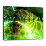 Dawn Of Time, Abstract Lime & Gold Emerge Canvas 20  x 16  (Framed)