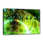 Dawn Of Time, Abstract Lime & Gold Emerge Canvas 18  x 12  (Framed)