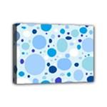 Bubbly Blues Mini Canvas 7  x 5  (Framed)