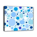 Bubbly Blues Canvas 10  x 8  (Framed)
