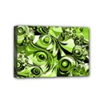 Retro Green Abstract Mini Canvas 6  x 4  (Framed)
