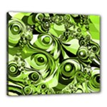 Retro Green Abstract Canvas 24  x 20  (Framed)