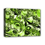 Retro Green Abstract Deluxe Canvas 16  x 12  (Framed)