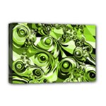 Retro Green Abstract Deluxe Canvas 18  x 12  (Framed)
