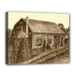 Sugarcreek Barn - Ave Hurley - Canvas 14  x 11  (Stretched)