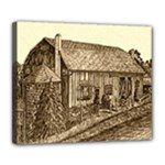 Sugarcreek Barn - Ave Hurley - Deluxe Canvas 24  x 20  (Stretched)