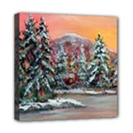 Jane s Winter Sunset - Ave Hurley -  Mini Canvas 8  x 8  (Stretched)