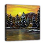James Winter Cabin - Ave Hurley - Mini Canvas 8  x 8  (Stretched)