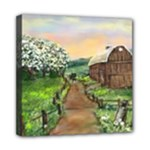 Amish Apple Blossoms - Ave Hurley - Mini Canvas 8  x 8  (Stretched)