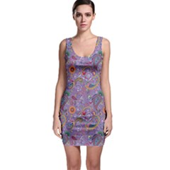 Purple Paisley Bodycon Dress by StuffOrSomething