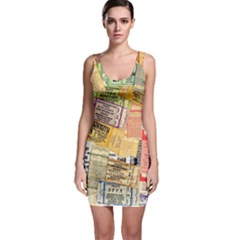 Retro Concert Tickets Bodycon Dress by StuffOrSomething