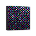 Polka Dot Sparkley Jewels 2 Mini Canvas 4  x 4  (Framed)