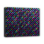 Polka Dot Sparkley Jewels 2 Canvas 10  x 8  (Framed)