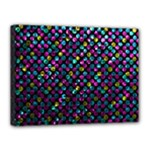 Polka Dot Sparkley Jewels 2 Canvas 16  x 12  (Framed)