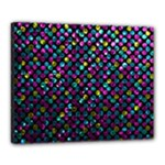 Polka Dot Sparkley Jewels 2 Canvas 20  x 16  (Framed)