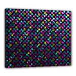 Polka Dot Sparkley Jewels 2 Canvas 24  x 20  (Framed)
