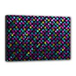 Polka Dot Sparkley Jewels 2 Canvas 18  x 12  (Framed)