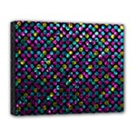 Polka Dot Sparkley Jewels 2 Deluxe Canvas 20  x 16  (Framed)