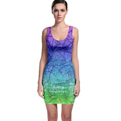 Grunge Art Abstract G57 Bodycon Dress by MedusArt