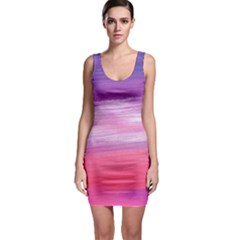 Acrylic Abstract In Pink & Purple Bodycon Dress by StuffOrSomething