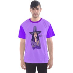 Purple Witch Men s Full All Over Print Sport T Shirt by FunWithFibro