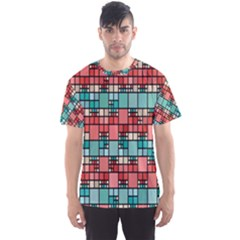 Red And Green Squares Men s Full All Over Print Sport T-shirt